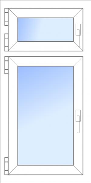 Konfigurator: Fenster-2tlg-1xDK-1xOberDK, DKR-ODKR