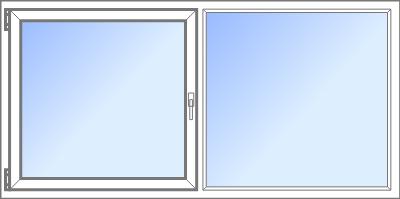 Konfigurator: Fenster-2tlg-1xDK-1xFVR, DKR-FVR