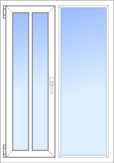 Konfigurator: Tuer-2tlg-1xDK-1xSeiteFV, DKR-FV